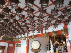狸谷不動尊の天井