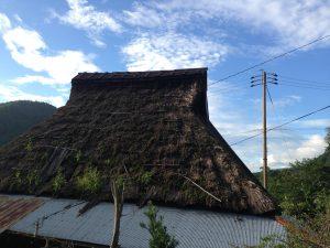 京都大原藁葺き屋根